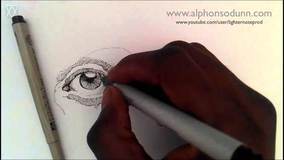 Pen and Ink Drawing Tutorials | How to draw a realistic eye Part I