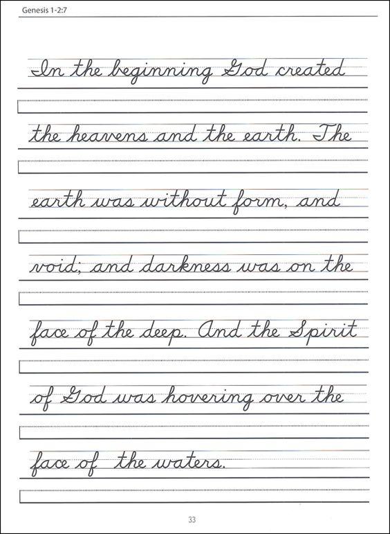 Scripture Character Writing Worksheets Zaner-Bloser Beginning ...
