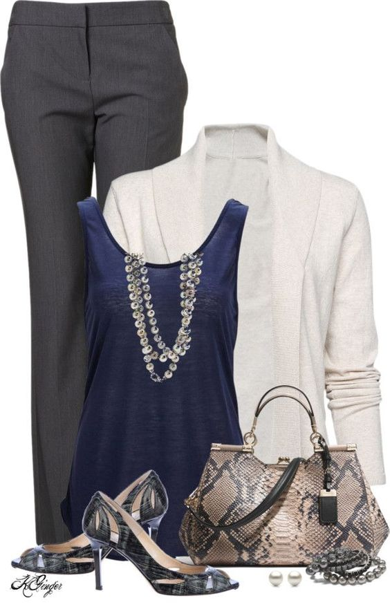 Simple Style for a Gorgeous Look : 31 Casual Work Outfits Polyvore Ideas - Be Modish - Be Modish::