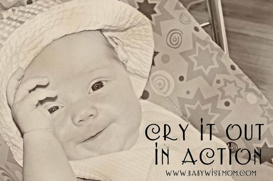 Chronicles of a Babywise Mom: In Action: Cry It Out
