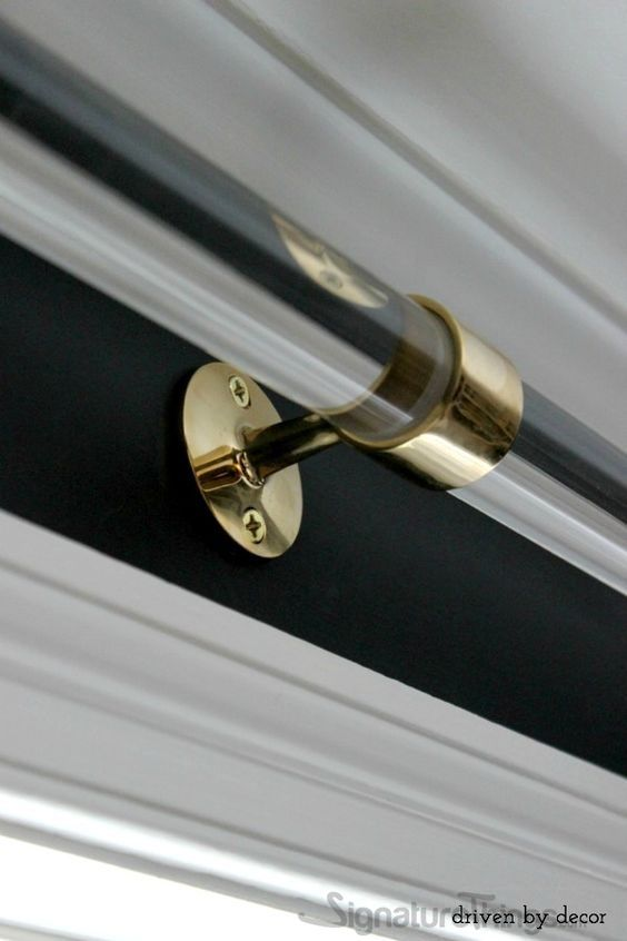 Standard Rod Center Bracket Acrylic Curtain Rods Curtain Rods