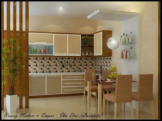 Kitchen set sketsa desain dapur minimalis tata ruang for Design kitchen set minimalis
