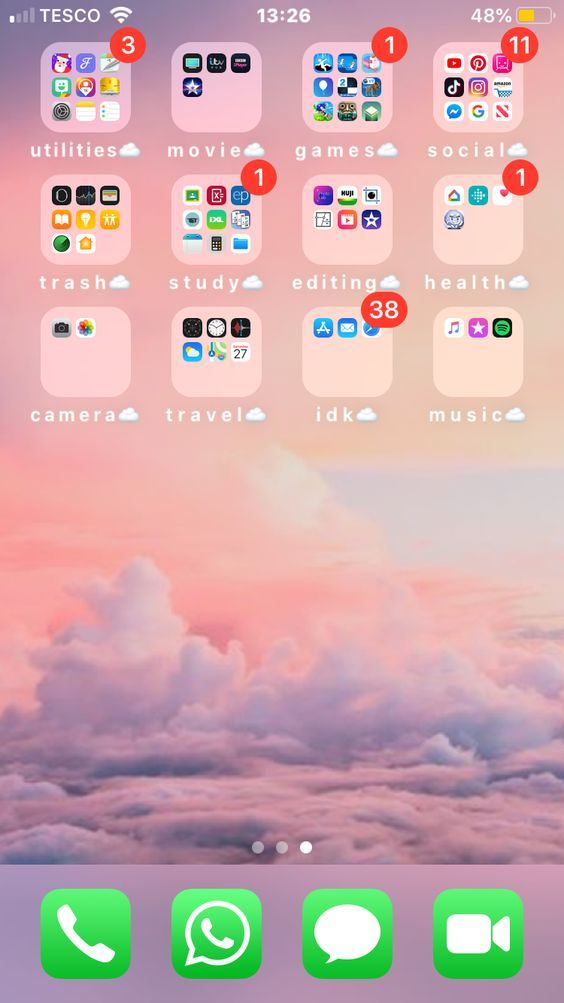 How To Have An Aesthetic Phone The Rosetum Phone Apps Iphone Organize Phone Apps Homescreen Iphone