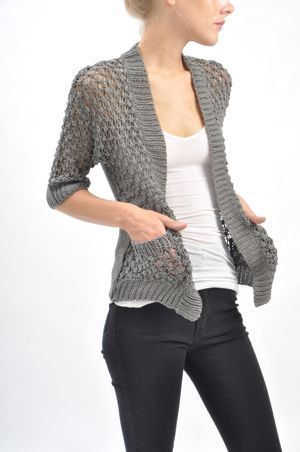 bliss blog - i heart monday: tulle slouchy gray cardigan
