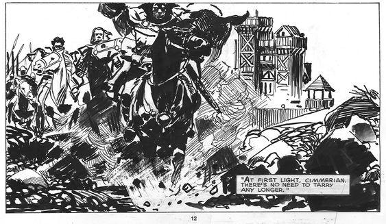Zaffino - Savage Sword of Conan Detail Comic Art