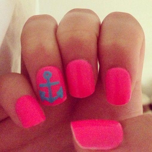 ☀⚓#nails #pink #anchor #barbie #malibubarbie #summer #funinthesun #sunkissed #tan #beachbumbombshell #beachbabe #mermaid #ocean #seabreeze #sail #boat #21 & #foreveryoung