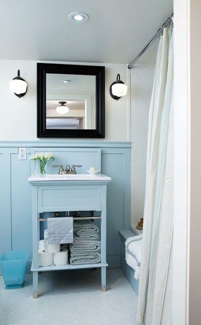 light blue bathroom