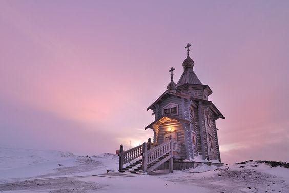 For the frozen chosen. Trinity Church in Antartica