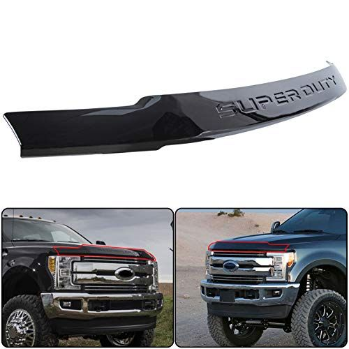 Ecotric Black Hood Deflector Bug Shield For 2017 2018 2019 Ford