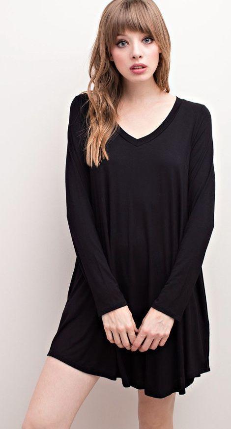 Pocket Dress - Black