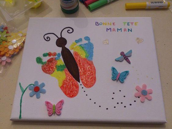 Empreintes de pieds pour un papillon
