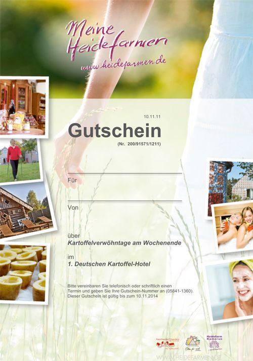 """Hotelgutschein """"Meine Heidefarmen"""""""