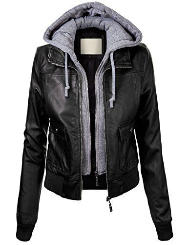 Black bomber jacket with hood – Modern fashion jacket photo blog