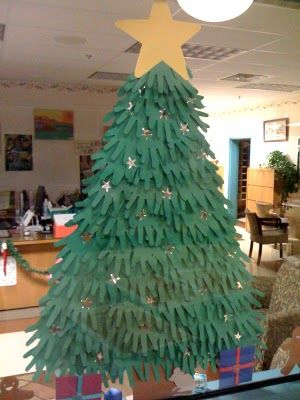 Christmas trees, Hand prints and Collaborative art projects on ...