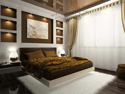 types of interior design - Soothing Warmth Brown Bedroom Interior Design Ideas ♦ Furniture ...
