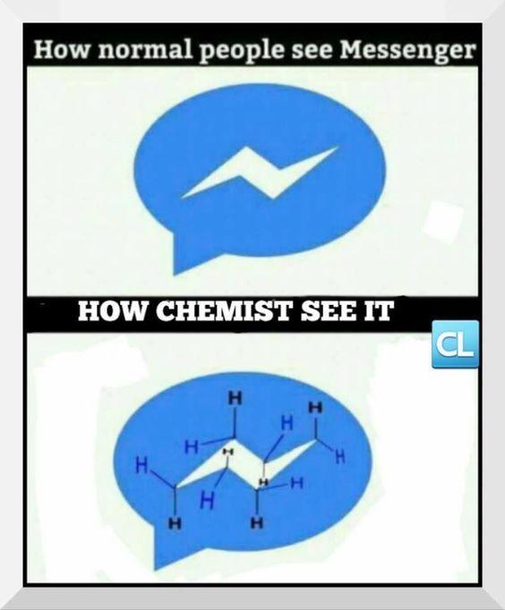 How chemist see the messenger logo :D #humor #sciencejoke ...