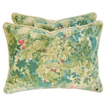 Check out this item at One Kings Lane! Scalamandré Velvet & Mohair Pillows, Pr