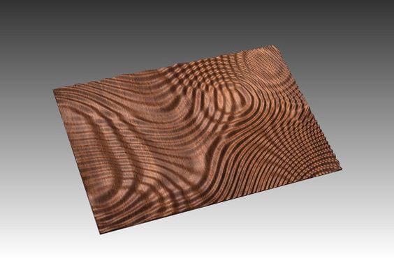 Modello di scultura di arte op rilievo 3D astratto di BonitumART
