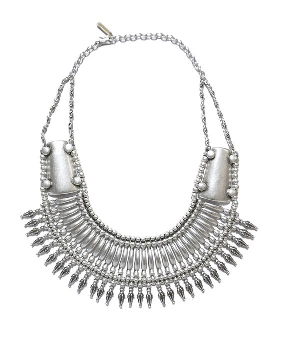 Chunky tribal collar spike necklace