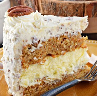 FOR THE CARROT CAKE LAYERS:   2 cups granulated sugar  1 cup canola oil  4 large eggs  2 cups all-purpose flour...