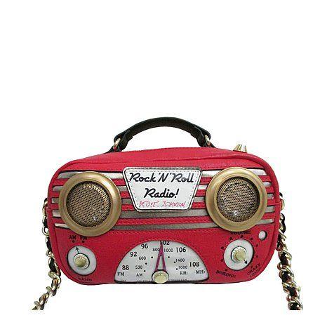 So cute!! I want!! Betsey Johnson Rock N' Roll Radio Crossbody Bag