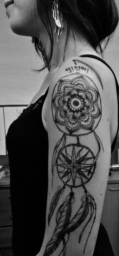 tatouage attrape r ve paule bras tatouage pinterest. Black Bedroom Furniture Sets. Home Design Ideas