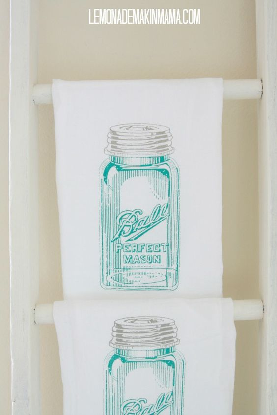 antique mason jar flour sack dishtowels from lemonade makin mama