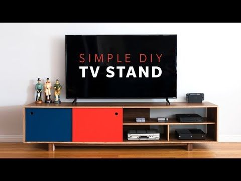How To Make A Diy Mid Century Modern Tv Stand Woodworking