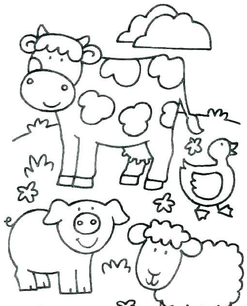 Farm Animal Coloring Book Printable Children Animals Pages Free Inspiration Image Of Col In 2020 Farm Coloring Pages Farm Animal Coloring Pages Animal Coloring Pages