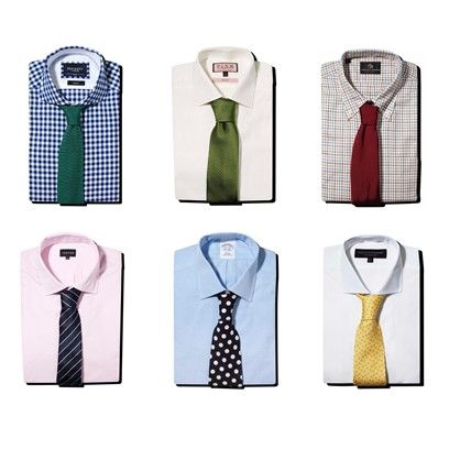 How to colour match shirts dress shirt and tie men 39 s for Matching ties with shirts