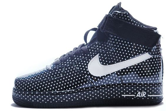 Brand New Nike Air Force 1 Spots Series High Top Shoes For Lover Black White