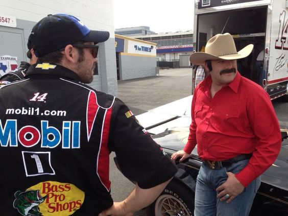 Tony Stewart as the Bandit for an upcoming commercial