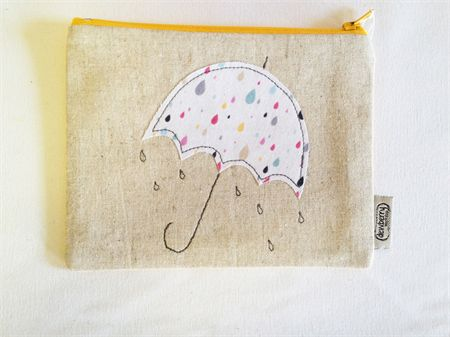 Raindrops umbrella Zip Purse