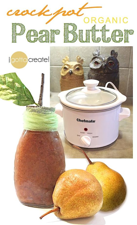 Pear butter, Pears and Crockpot on Pinterest