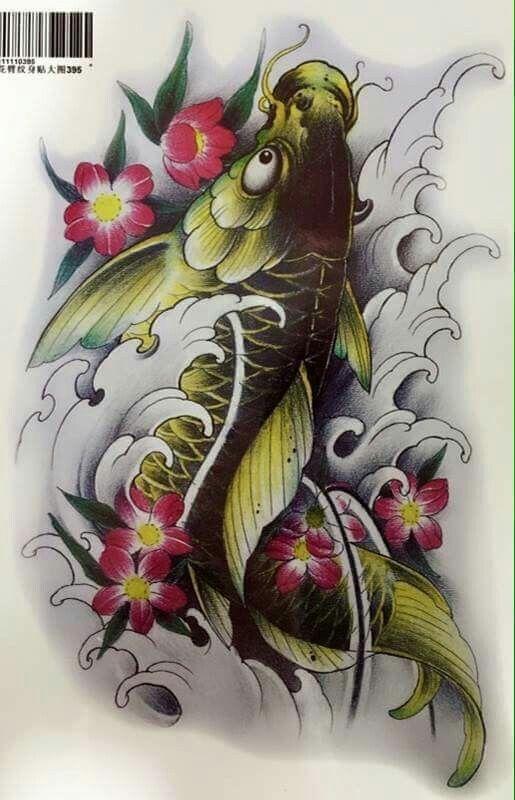 Diseno Tatuaje De Pez Coi Tatuaje Pez Koi Tatuajes Carpas Koi Tatuajes De Arte Corporal