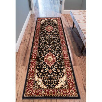 Astoria Grand Belliere Medallion Persian Traditional Black Area