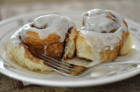 I made these this afternoon, very nice and soft.  Made a caramel topping instead of the icing.  Caramel - bring to a boil cream and brown sugar in a saucepan, pour on buns 10 min before done and return to oven to finish baking the cinnamon buns.