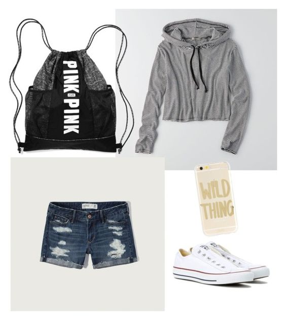"""Untitled #1"" by chaymaagrzesik on Polyvore featuring American Eagle Outfitters, Abercrombie & Fitch, Sonix, Converse and Victoria's Secret"