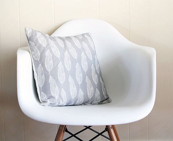 Feathered Pillow Case by Satchel & Sage on Etsy