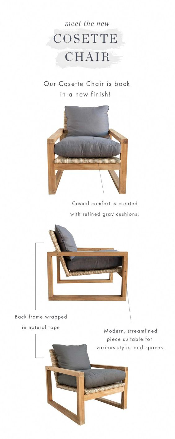 Anatomy Of The Cosette Lounge Chair Mcgee Co Mcgeeandco Com Furniture Rustic Living Room Furniture White Furniture Living Room Furniture