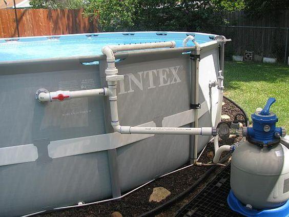 Intex Pool Plumbing : Pvc fountain landscape pool misc pinterest