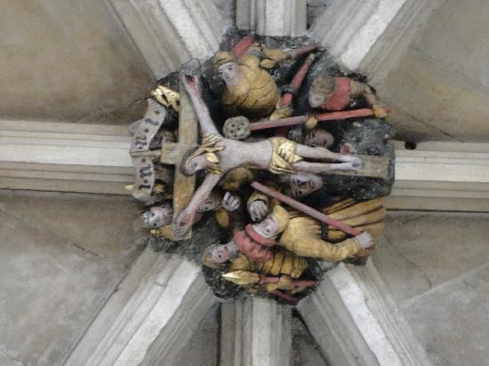 Crucifixion Roof Boss, Norwich Cathedral