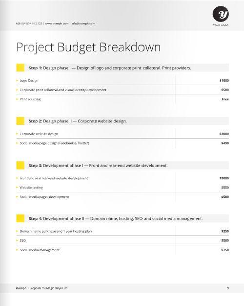 Business Proposal @creativework247 Brochure Design - Brochure - graphic design proposal template