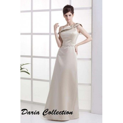 Bridesmaid Dresses Sheath/Column One Shoulder Floor Length Satin $348.98 Wedding Apparel