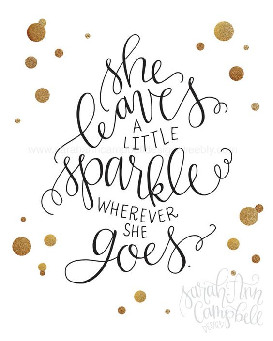 She Leaves A Little Sparkle Wherever She Goes Kate Spade