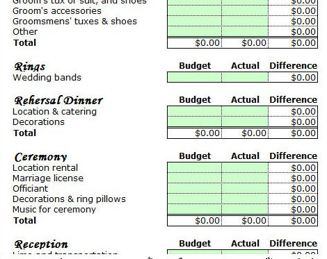 10 free household budget spreadsheets for 2017 monthly for Day of wedding planner cost