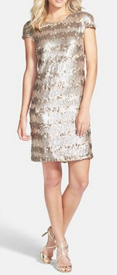 Gorgeous gold sequin shift dress http://rstyle.me/n/it5xmnyg6