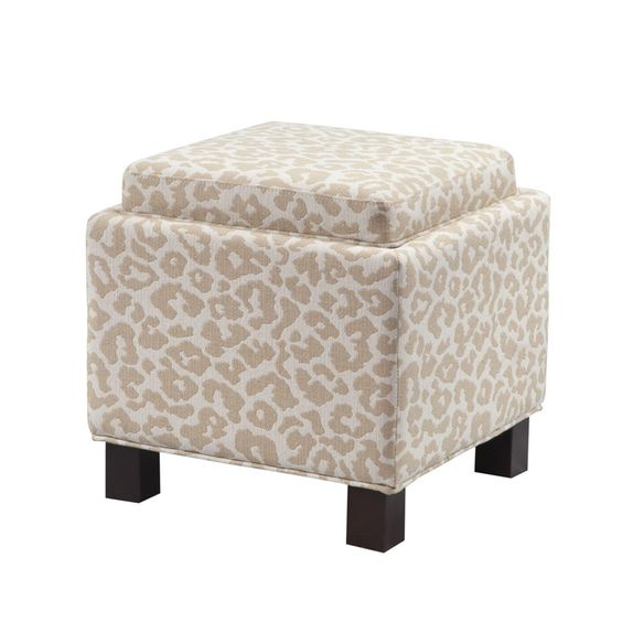 Angelina Square Storage Ottoman With Pillows - Leopard | American Home | Albuquerque, Santa Fe, Farmington - NM