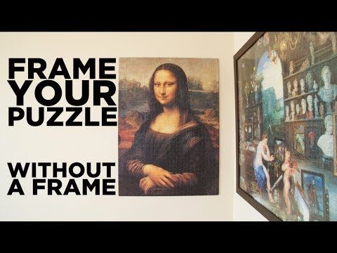 Diy Frame Your Puzzle Without A Frame Youtube Puzzle Picture Frame Jigsaw Puzzle Crafts Puzzle Frame