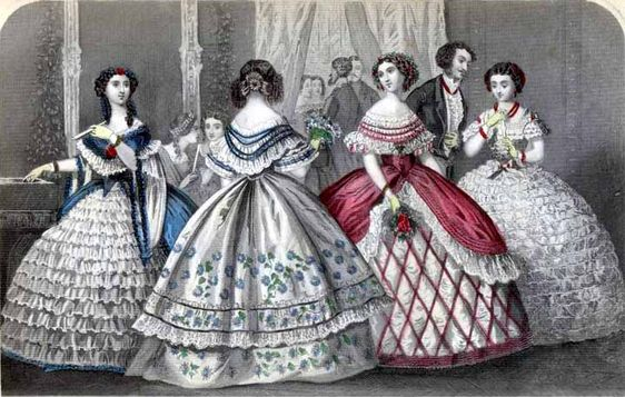 "Godey's December 1859  ""Fashionable Party"""